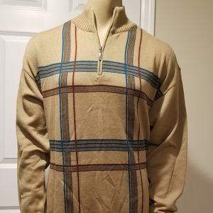 BUGATTI NWT Vintage mens MERINO WOOL zip sweater